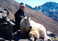 Mountain goat hunting.